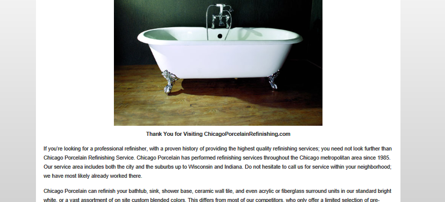 Chicago Porcelain Refinishing